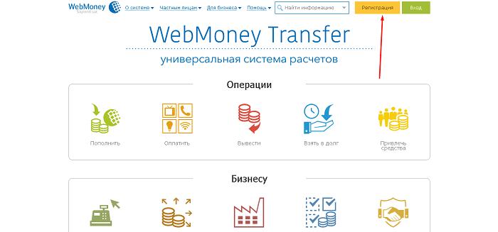 Создание кошелька Webmaney