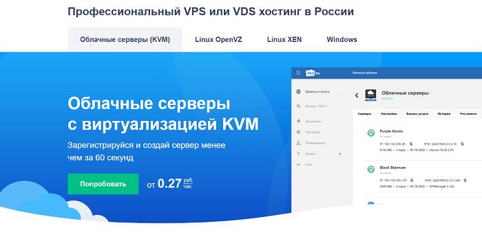 Облачные серверы с виртуализацией KVM