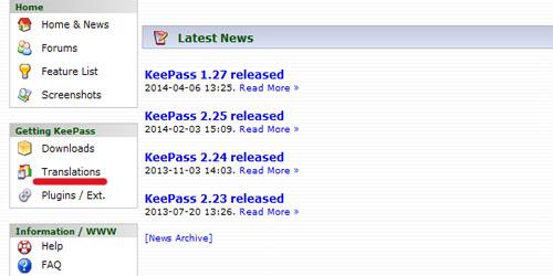 keepass-translations